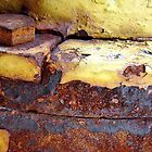 Texture in Yellow and Rust by clizzio