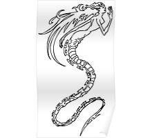 mermaid skeleton Poster
