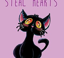 Black Cats Steal Hearts Not Souls by Kristin Frenzel