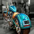 Blue Chopper by Steven  Agius