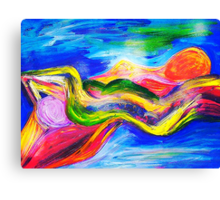 Spirits Recling Nudes Canvas Print