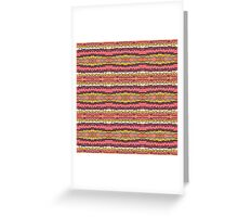 earthy jagged stripes Greeting Card