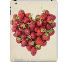 Strawberry Heart on Vintage Paper iPad Case/Skin