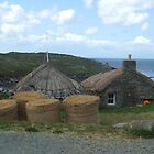 Blackhouses on Lewis by Debz Kirk