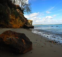 Studland - WW 11 Pill-Boxes at Redend Point.   by delros