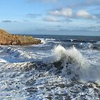 Crashing Waves at Crail  by Debz Kirk