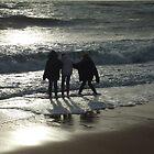 Paddling on Elie Beach  by Debz Kirk