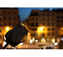 Rose at the Spanish Steps Photographic Print