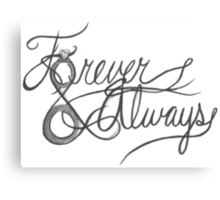 Forever & Always Canvas Print