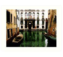 GREEN STREETS OF VENICE Art Print