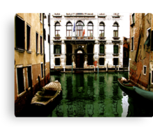 GREEN STREETS OF VENICE Canvas Print