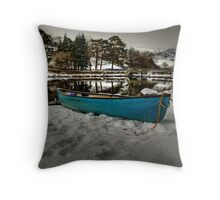 Canoeing in this? no chance Throw Pillow