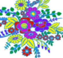 Sweet floral print cornflower blue Sticker