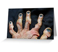 Let's shake hands Greeting Card