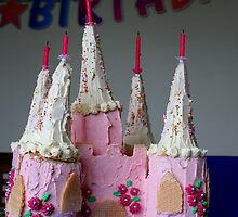 Birthday Cake. Pink Fairy Castle by Alexandrina