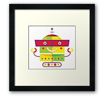 Robot illustration Framed Print