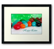 Jelly Bean Greeting ~ Happy Easter Framed Print