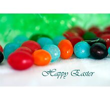 Jelly Bean Greeting ~ Happy Easter Photographic Print