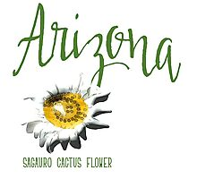Arizona State Flower Sagauro Cactus Flower Photographic Print