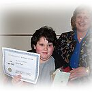 Michael With His Certificate Of Appreciation by Jonice