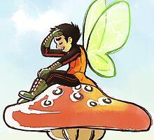 Damian Wayne Fairy by raedbyrd