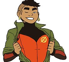 Damian Wayne - Not Robin Anymore (Transparent) by raedbyrd