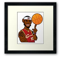 Lebron James Cartoon Framed Print