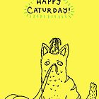 Happy Caturday - Ginger Cat by Sophie Corrigan