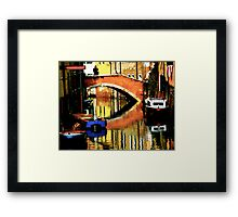 VENICE-LIVING ON A MIRROR Framed Print