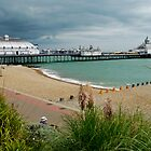 Eastbourne Beach and Pier by Roberto Herrett