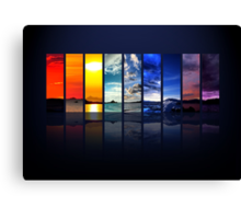 Spectrum of the Sky Canvas Print