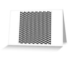 Animal Pattern -Geometric Black and White Greeting Card