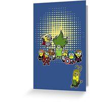 Assemble Minions Greeting Card