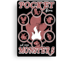 Pocket Monsters - Fire Canvas Print