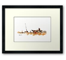 Thinking Time Framed Print