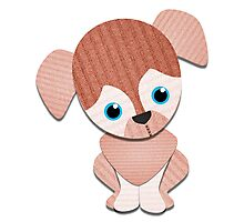 Beagle Brown Knit Photographic Print
