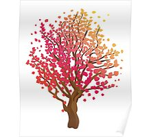 Stylized Autumn Tree 3 Poster