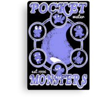 Pocket Monsters - Water Canvas Print
