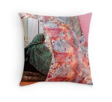 The fabric shop Throw Pillow