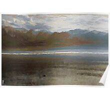 Yet another Lake Geneva and alps landscape. Poster