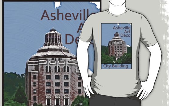 Asheville Art Deco - City Building by David Thompson