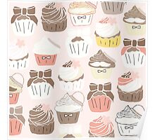 Pink Chocolate Cupcakes Poster