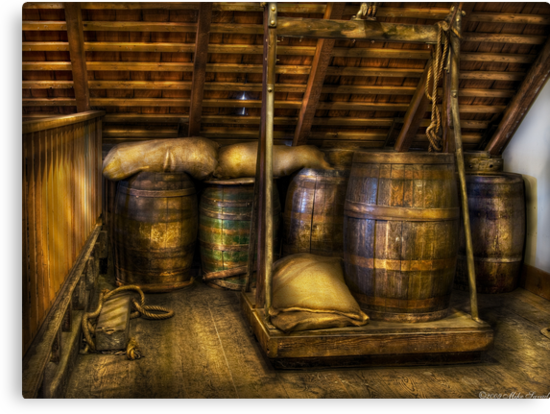Wine Barrels by Mike  Savad