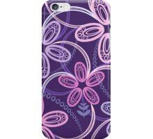 Night violet  floral pattern iPhone Case/Skin