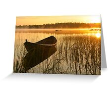 Wooden boat Greeting Card