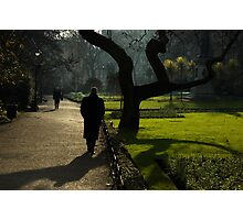 Mystery Man and Tree Photographic Print
