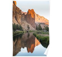Smith Rock Reflection Poster
