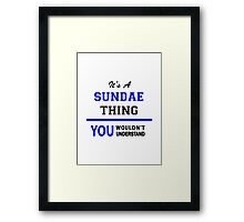 It's a SUNDAE thing, you wouldn't understand !! Framed Print