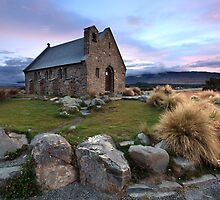 Church of the Good Shepherd, Lake Tekapo, New Zealand by Michael Boniwell