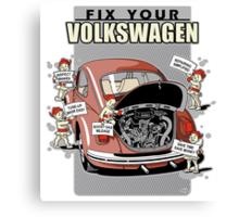 Fix your VW Beetle 2 Canvas Print